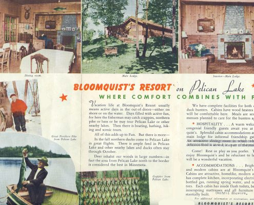 IVR History - Bloomquist's Resort Brochure
