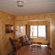 Birch cabin interior