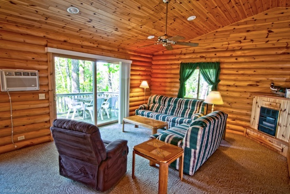 Oaks cabin interior