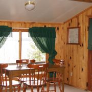 Red Pine cabin interior